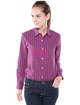 Dioufond® Camisas Cuadros Mujer Manga Larga Blusas Casual para Mujer