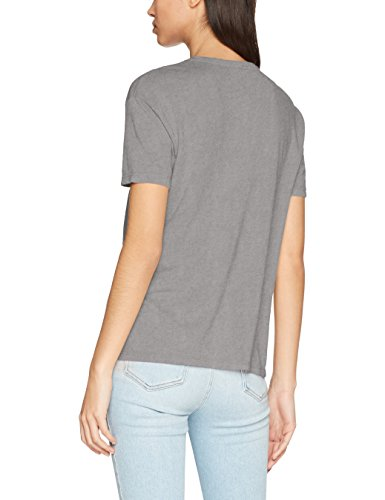 Only Onltoby S/S Wanted/Luxe Top Box Ess, T-Shirt Donna Grigio (Charcoal Gray Print: Luxe)