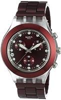 Reloj Swatch SVCK4054AG de caballero de cuarzo con correa de aluminio roja de Swatch