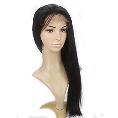 Lordhair 100% Indian Human Hair Silky Straight Gluless Lace Front Wig by Larcoo International (HK) Co.,Limited
