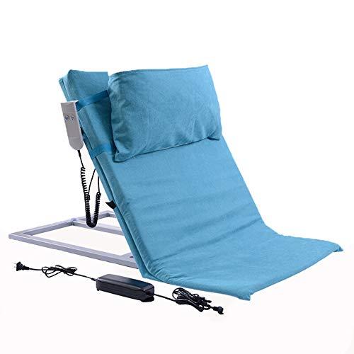 KuiGu Rückenlehne, elektrische verstellbare Rückenlehne mit Verstellbarer Kopfstütze für orthopädische Eingriffe, Nacken, Kopf Lendenwirbelstütze,Blue