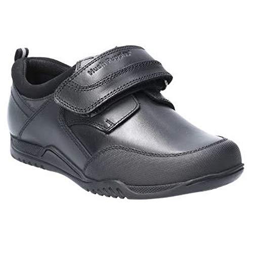 Hush Puppies Noah Jnr, Zapatos para Uniformes de Escuela para Niños, Negro, 32.5 EU