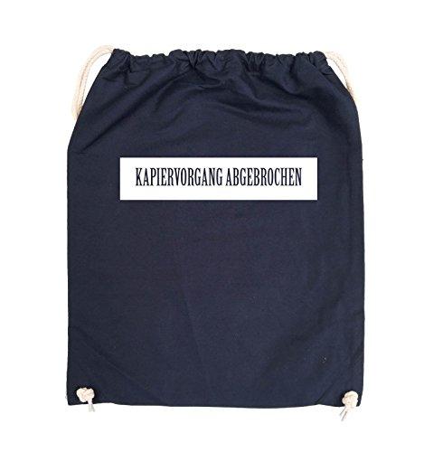 Comedy Bags - KAPIERVORGANG ABGEBROCHEN - Turnbeutel - 37x46cm - Farbe: Schwarz / Pink Navy / Weiss