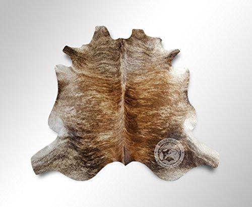 Teppich aus Kuhfell, Farbe: Beige und Weiß, Größe circa 180 x 210 cm, Premium - Qualität von Pieles del Sol aus Spanien