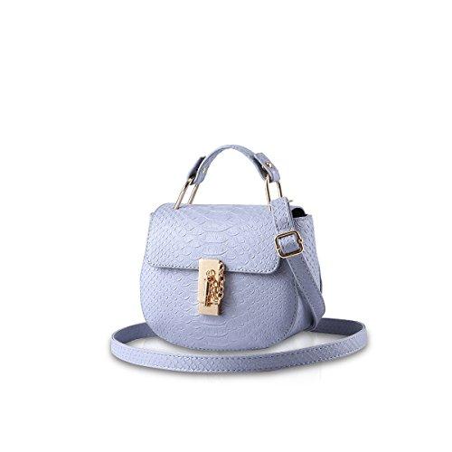 NICOLE&DORIS Ragazze carine borsa a tracolla alla moda borsa del messaggero di Crossbody della maniglia Borsa multiuso PU cielo blu azzurro