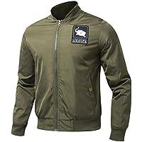AIRAVATA Uomo Poliestere Zipper Completa Giacca Classico Vestibilità Slim Abbigliamento Da Lavoro Per Escursioni, Campeggi e Altro S Alla XL