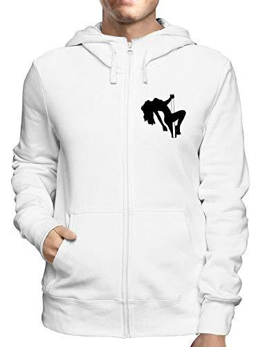 Sweatshirt Hoodie Zip Weiss FUN1681 Guys Guy Zip Hoodie