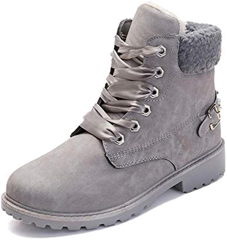 YCGCM Stivali da Donna Autunno E Inverno Stivali di Cotone Caldo E Comodo Semplice Rivetto Stivali | Nuova voce  | Uomini/Donne Scarpa