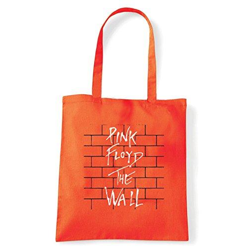 Art T-shirt, Borsa Shoulder Pink Floyd The Wall, Shopper, Mare Arancio