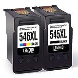 2 LEMERO Wiederaufbereitet Druckerpatronen für Canon PG-545XL CL-546XL für Canon PIXMA MG2450 MG2550 MG2950 IP2850