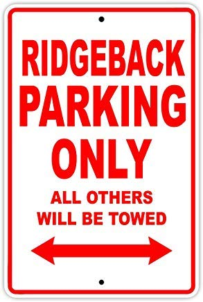 Fhdang Dekoschild Big Dog Ridgeback Parking Only Towed Motorrad Bike Chopper, Aluminium, Metall, Multi, 12x18 inches