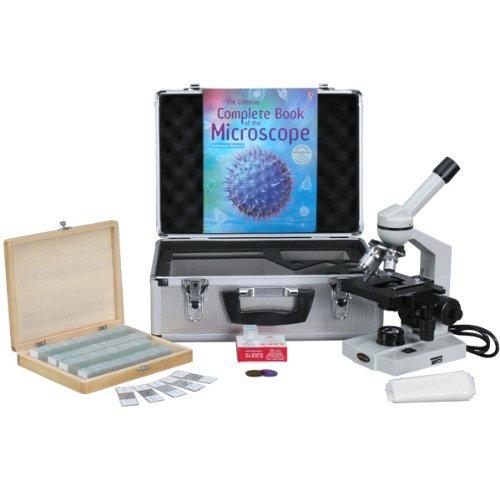 amscope m600b-tk10040x 2000x Advanced Monokular Compound Mikroskop mit 3d-stage + Buch, Folien & Tragetasche
