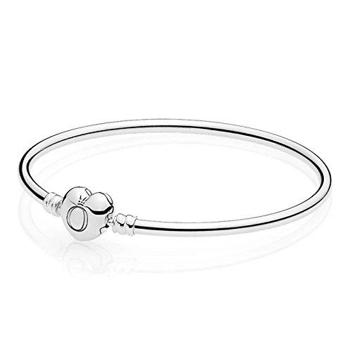 Pandora bracciale con charm donna argento - 596268-17