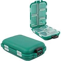 Chytaii 2pcs Caja para Aparejos de Pesca Caja de Almacenamiento de Pesca Caja de Gancho Caja de Accesorios de PVC Almacenamiento Caso Verde