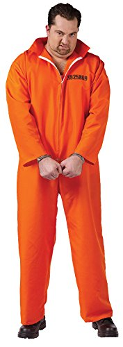 Got Busted Jail Inmate Prisoner Jumpsuit Costume Plus Adult Plus Size