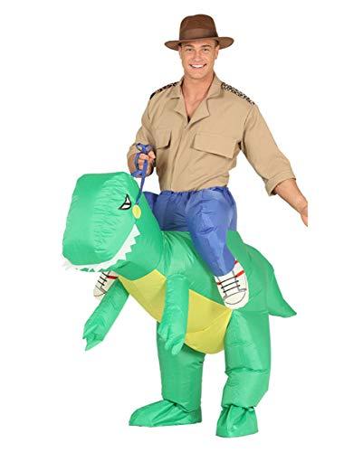 Horror-Shop Aufblasbares T-Rex Carry Me Kostüm für Fasching One Size