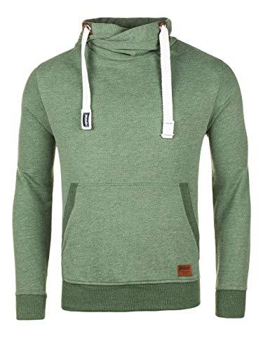 Yazubi Herren Sweatshirt Edward - Männer Kapuzenpullover grüne Sweatjacke - Kapuzensweatshirt Hoodies, Grün (Myrtle Green 186114), S -