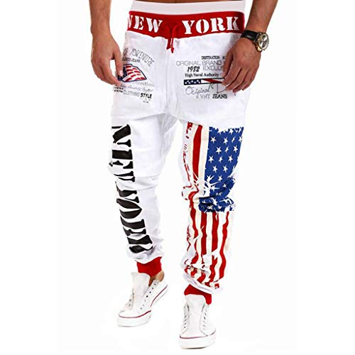 ing-Sport-Flagge Druck beiläufige Kordelzug Sporthosen Hosen Männer der Männer Drawstring elastische Taillen-Druck-lose Sporthosen ()