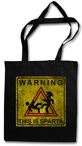 warning-this-is-sparta-sign-rutilisable-pochette-sac-de-courses-en-coton-hipster-reusable-shopping-b