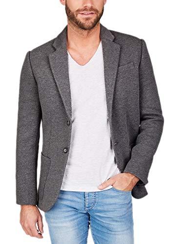 Centered Sakko Herren modern und sportlich - als Casual Jacket oder Blazer (Grau), Grau, M