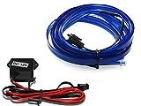 EL Lichtleiste - Ambientebeleuchtung Leuchtschnur Kabel blau - Kein LED (2m (6,75€/m))