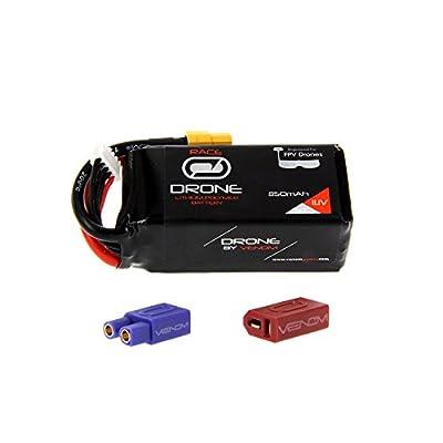 Venom 50C 3S 850mAh 11.1V Drone Racing LiPo with Universal 2.0 Plug (XT60/Deans/EC3)