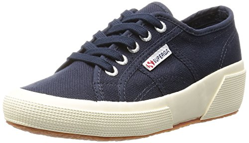 Superga Cotw Linea Ud Natural Rubber, Chaussures de Gymnastique Mixte Adulte Bleu - Navy