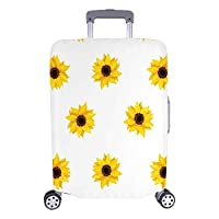 Muccum Suitcase Covers Travel Luggage Protectorss Yellow Sunflowers Fit 18-28 Inch Luggage