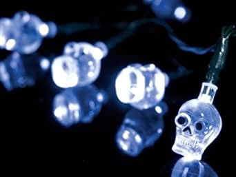 10 Ultra Bright LED Skull Lights Decoration Halloween Scary