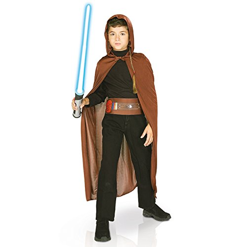 Kostüm Kinder Ritter Jedi (Rubie 's Offizielles Kind 's Disney Star Wars Jedi Blister Set – One)