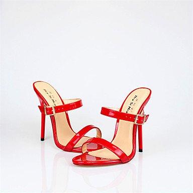 LvYuan Damen-Sandalen-Hochzeit Büro Party & Festivität-PU-Stöckelabsatz-Andere-Schwarz Rot Weiß Red