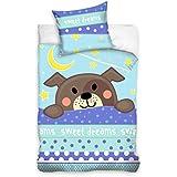 Baby Bow Parure de lit enfant bébé Parure de lit 100x 135cm chiot 163002