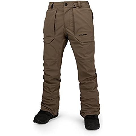 Volcom Inverno 2016/17 Stretch Gore-Tex pantaloni teak, Brown,