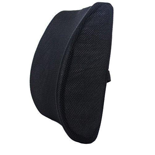 Milliard Orthopädisches Rückenkissen- Memory Foam Ergonomisches Lendenkissen Stuhlkissen - zur Unterstützung des Unteren Rückens - Für Eine Entspannte Haltung im Auto, Bürostuhl, Flugzeug, und Zuhause