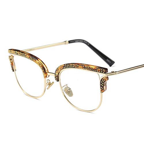 Yiph-Sunglass Sonnenbrillen Mode Damen Coole Brille Square Frame klare Brillengläser. (Farbe : D) (Square Frame Brille Kostüm)