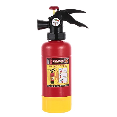 Goolsky Giocattolo di spruzzatura dell\'acqua dello squirter portatile dell\'estintore per il regalo del costume del pompiere di Halloween dei bambini