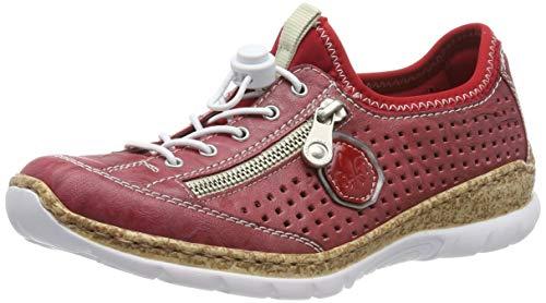 Rieker Damen N4296-35 Sneaker, Rot/Altsilber Rosso 35, 41 EU