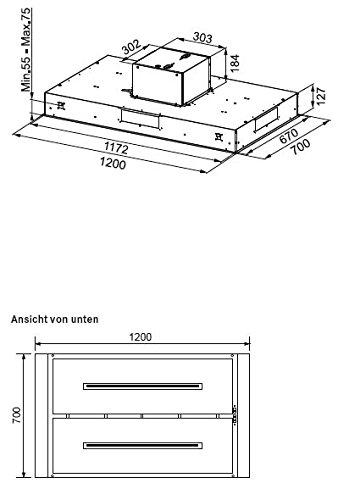 Image of Franke 110.0352.039  Maris Ceiling FCBI 1204 C X Island Cooker Hood Made of Stainless Steel