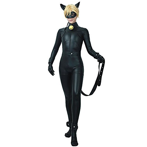 Costour Kinder Halloween Kostüm Marienkäfer Miraculous Ladybug Chat Noir Mottoparty Cosplay