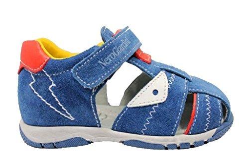 Noir Giardini J P823130M Bleu Sandales Chaussures Bébé Fermeture avec Larme - Bleu, 24 EU