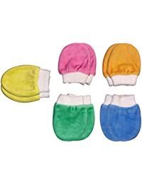 BRIM HUGS & CUDDLES Baby Boy's And Girl's Velour Mittens (HC_307) - Pack of 5