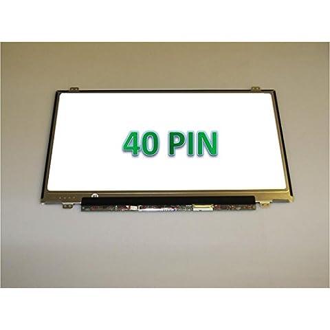 """lp140whu (TL) (A1)/lp140whu-tla1(o compatibile) 14""""LED WXGA HD sottile lucida schermo LCD di ricambio per Laptop/Ultrabook"""