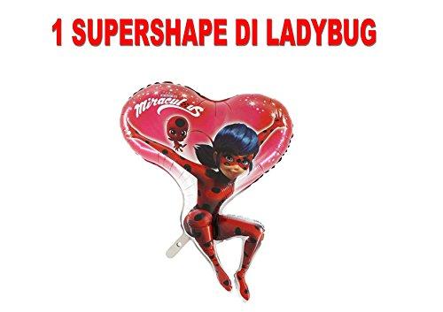 PARTY STORE WEB by casa dolce casa Ladybug Miraculous Fußball Foil Luft Oder Helium Party Dekoration und Tisch-CDC (1Fußball Supershape)