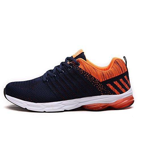 Fexkean Zapatillas de Deporte Zapatos Deportivos para Hombre Aire Libre Antideslizante Running Shoes 38-45(OR44)