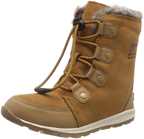 Sorel Kinder Youth Whitney Suede Wildlederstiefel, braun (elk)/weiß (natural), Größe: 38