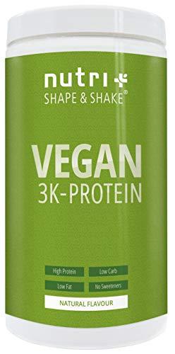 Nutri-Plus Shape & Shake Vegan 500g Neutral - Veganes Eiweißpulver ohne Aspartam, Süßstoffe, Laktose & Milcheiweiß