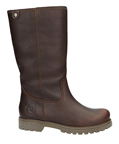 PANAMA JACK Damen Winterstiefel Bambina Igloo,Frauen Winter-Boots,Fellboots,Lammfellstiefel,Fellstiefel,gefüttert,Warm,Kastanienbraun,EU 36