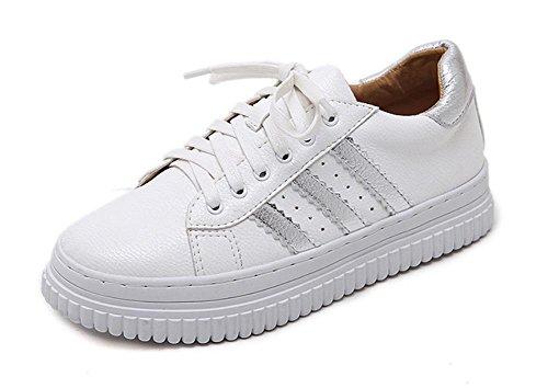 Chaussures de sport et de loisirs Muffin chaussures à fond épais chaussures lacées étudiants chaussures d'ascenseur automne Mme