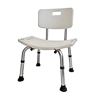 D PRO T shower chair shower stool adjustable height with angles legs and backrest bath seat