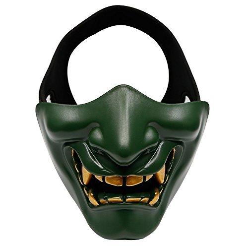 ZTBF - Maschera da Softair, a metà Viso, per Halloween, Caccia, Paintball, Snowboard, Moto, Cosplay